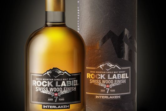 Swiss Mountain Single Malt Whisky «ROCK LABEL » lanciert